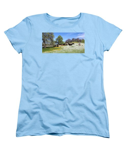 Cattle N Flowers Women's T-Shirt (Standard Cut)