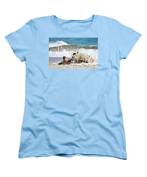 Women's T-Shirt (Standard Cut) featuring the photograph Caught From Behind by Terri Waters