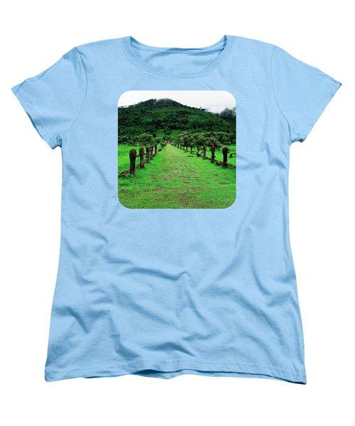 Causeway To Wat Phou Women's T-Shirt (Standard Cut) by Ethna Gillespie