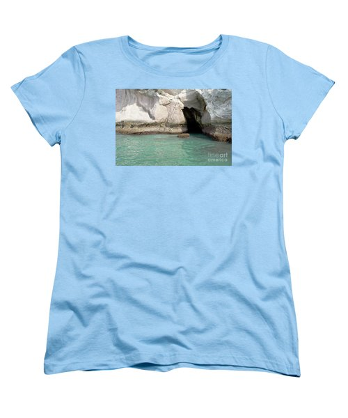 Women's T-Shirt (Standard Cut) featuring the photograph Cave Entranve by Yurix Sardinelly