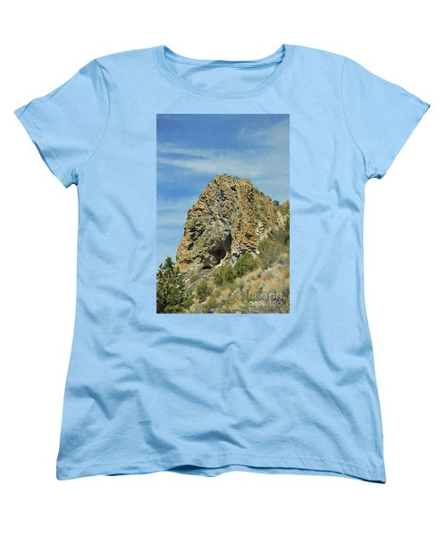 Women's T-Shirt (Standard Cut) featuring the photograph Cave Rock At Tahoe by Benanne Stiens
