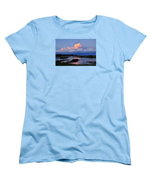 Cedar Key Sunset Women's T-Shirt (Standard Cut) by Debbie Green