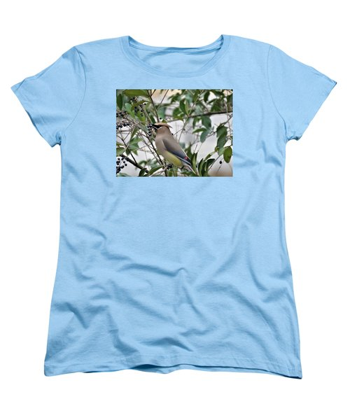 Cedar Waxwing 3 Women's T-Shirt (Standard Cut) by Kathy Long