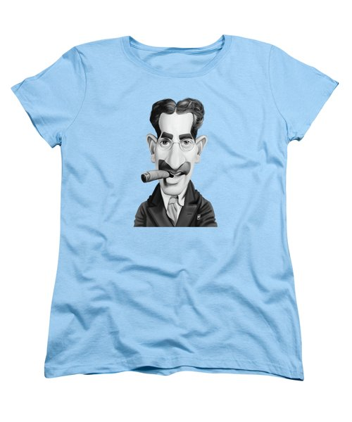 Celebrity Sunday - Groucho Marx Women's T-Shirt (Standard Cut) by Rob Snow