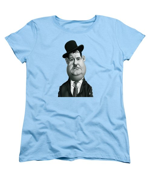 Celebrity Sunday - Oliver Hardy Women's T-Shirt (Standard Cut) by Rob Snow