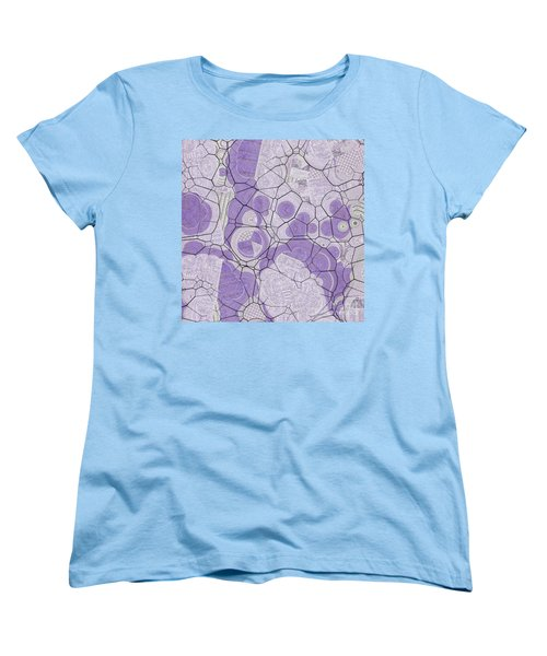 Women's T-Shirt (Standard Cut) featuring the digital art Cellules - 03c2 by Variance Collections