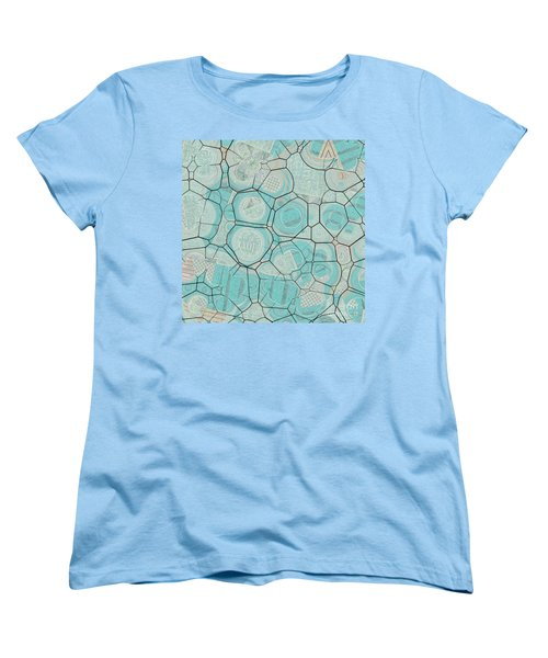 Women's T-Shirt (Standard Cut) featuring the digital art Cellules - 04c1 by Variance Collections