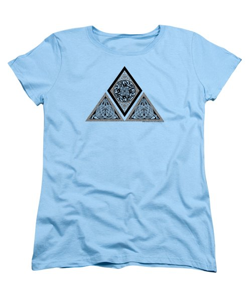 Women's T-Shirt (Standard Cut) featuring the mixed media Celtic Pyramid by Kristen Fox