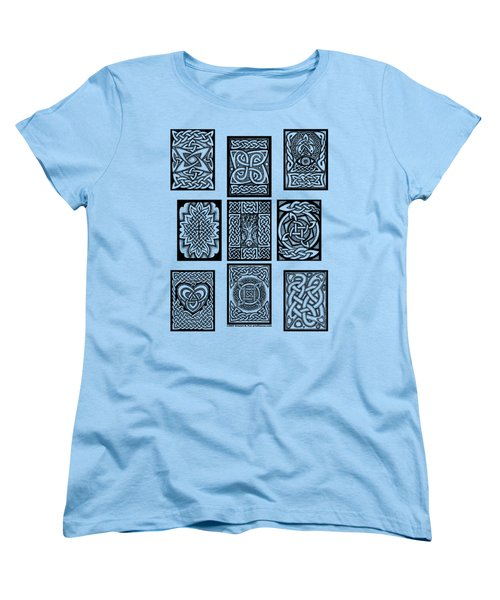 Women's T-Shirt (Standard Cut) featuring the drawing Celtic Tarot Spread by Kristen Fox