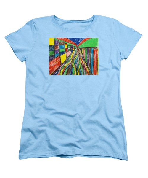 Women's T-Shirt (Standard Cut) featuring the painting Central Hill - London Sw19 by Mudiama Kammoh