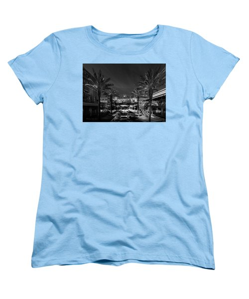Women's T-Shirt (Standard Cut) featuring the photograph Centro Ybor Bw by Marvin Spates