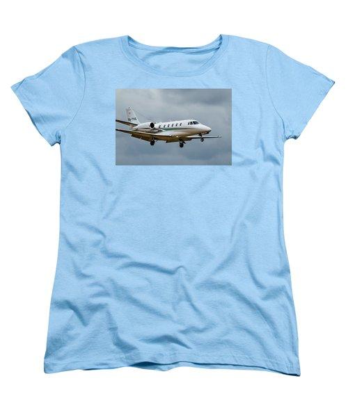Cessna Citation X Landing Women's T-Shirt (Standard Cut) by James David Phenicie