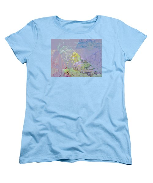Chalkboard Women's T-Shirt (Standard Cut) by David Bridburg