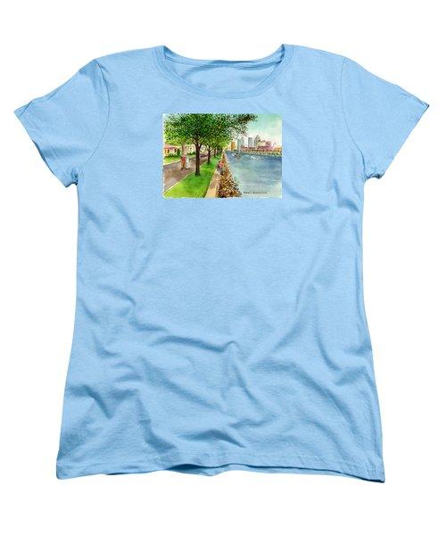 Channel Drive Tampa Florida Women's T-Shirt (Standard Cut) by Frank Hunter