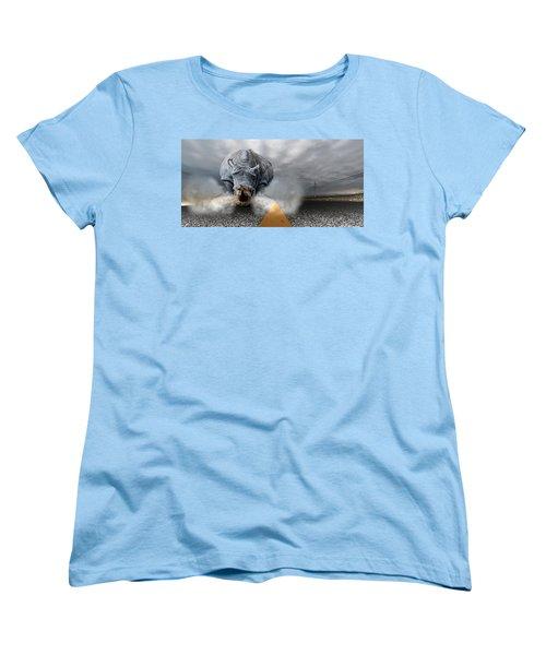 Women's T-Shirt (Standard Cut) featuring the digital art Chaos by Alex Grichenko