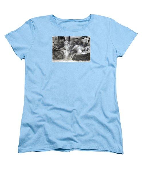 Charcoal Waterfall Women's T-Shirt (Standard Cut)