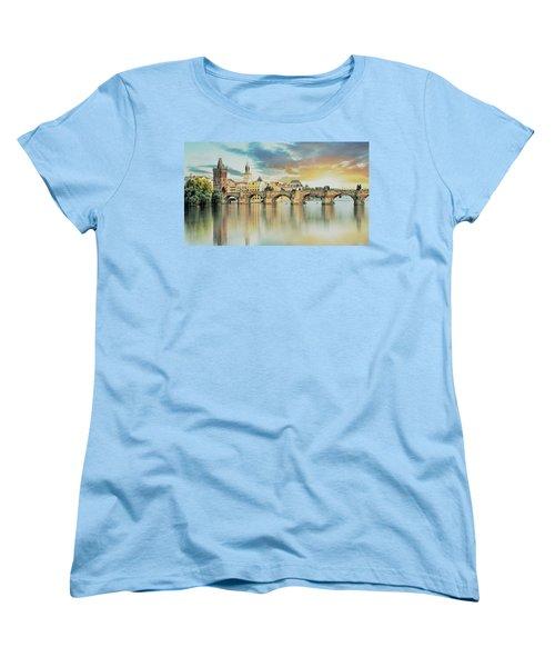Charles Bridge Women's T-Shirt (Standard Cut) by Maciek Froncisz
