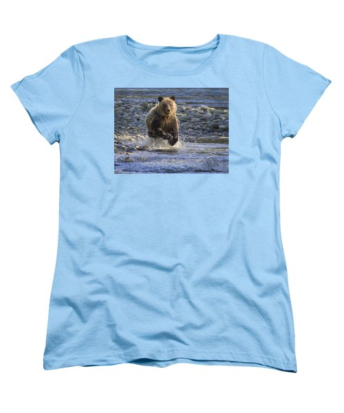 Chasing Salmon Women's T-Shirt (Standard Cut)