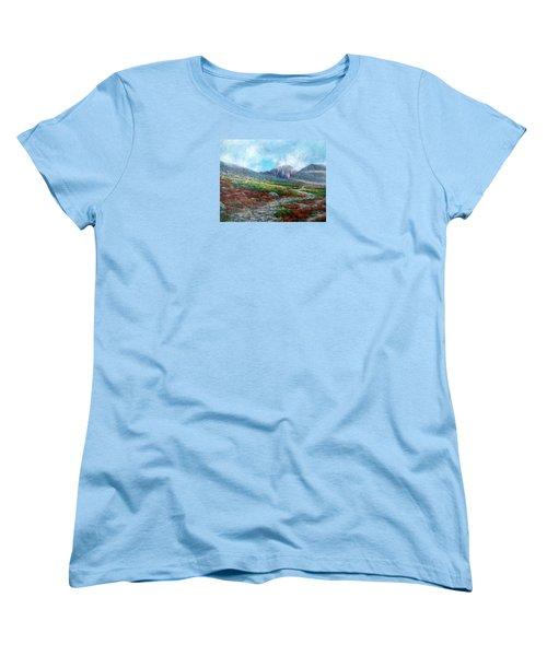 Chasm Lake Trail Women's T-Shirt (Standard Cut) by Jill Musser