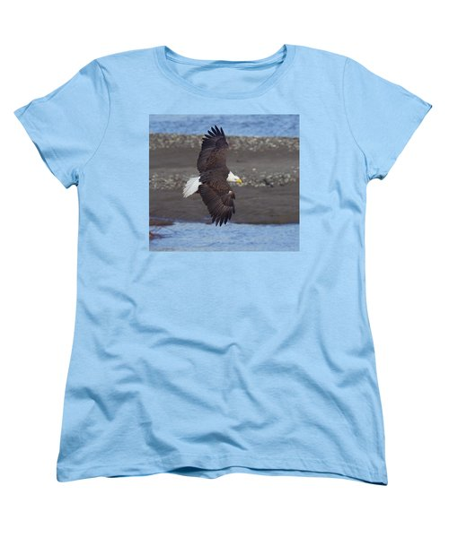 Women's T-Shirt (Standard Cut) featuring the photograph Checking Out The River by Elvira Butler