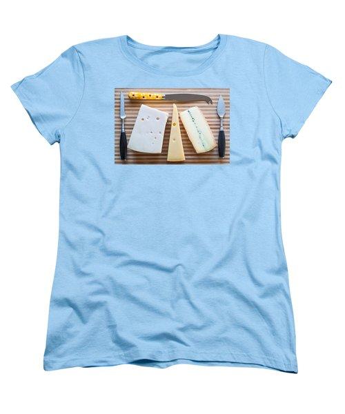 Women's T-Shirt (Standard Cut) featuring the photograph Cheese Board by Ari Salmela