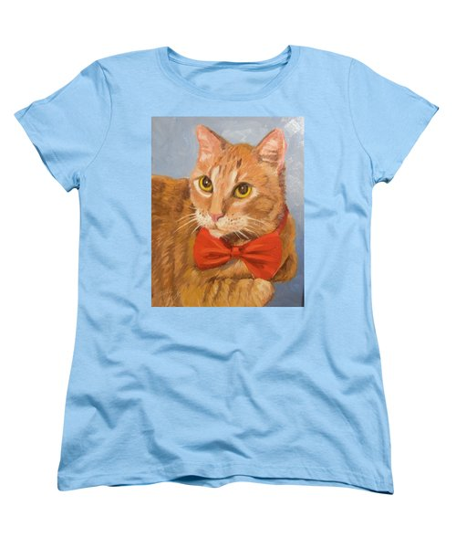 Cheetoh Cat Portrait Women's T-Shirt (Standard Cut) by Alice Leggett