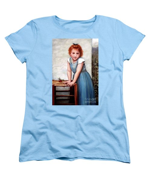 Women's T-Shirt (Standard Cut) featuring the painting Cherries by Judy Kirouac