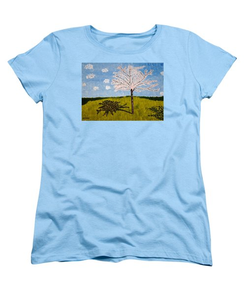 Cherry Blossom Tree Women's T-Shirt (Standard Cut) by Valerie Ornstein