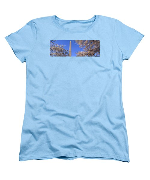 Cherry Blossoms And Washington Women's T-Shirt (Standard Cut) by Panoramic Images
