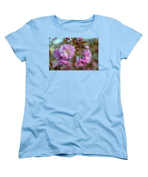 Cherry Blossoms Women's T-Shirt (Standard Cut) by Pat Cook