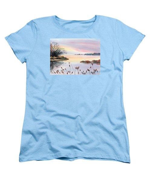 Chesapeake Bay Sunset Women's T-Shirt (Standard Cut) by Yolanda Koh