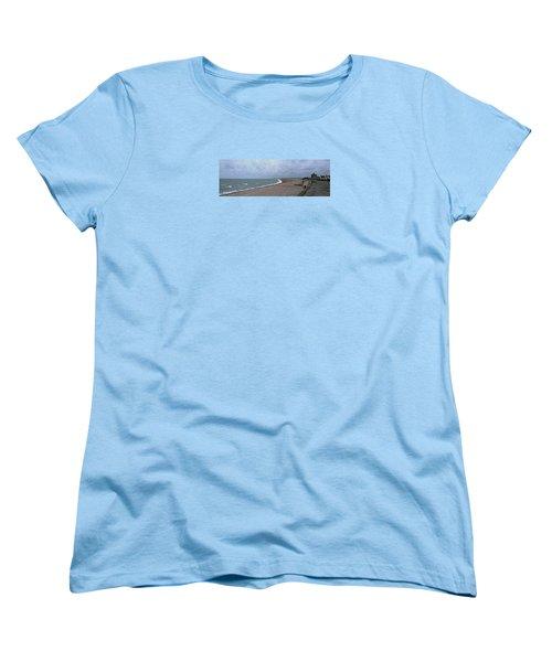Chesil Beach November 2013 Women's T-Shirt (Standard Cut) by Anne Kotan