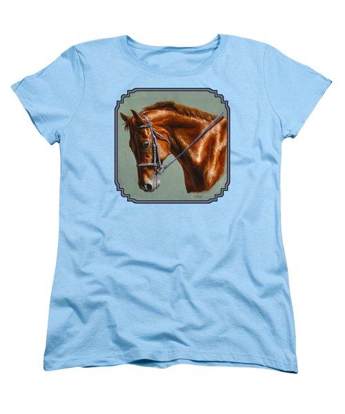 Chestnut Dressage Horse Phone Case Women's T-Shirt (Standard Fit)