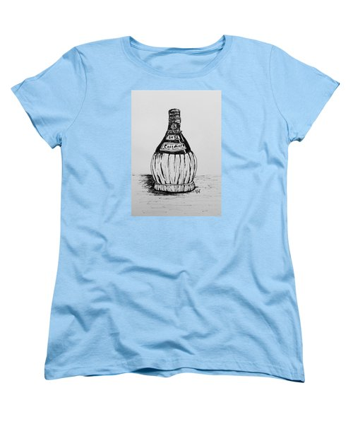 Chianti Bottle Women's T-Shirt (Standard Cut) by Victoria Lakes