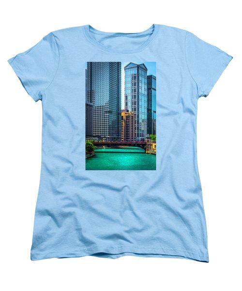 Chicago River From Michigan Ave Dsc2107 Women's T-Shirt (Standard Cut) by Raymond Kunst