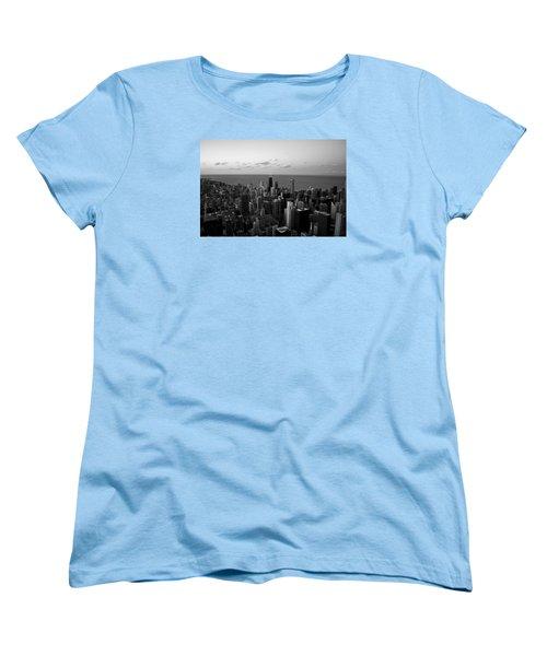 Chicago Skyline Bw Women's T-Shirt (Standard Cut) by Richard Zentner