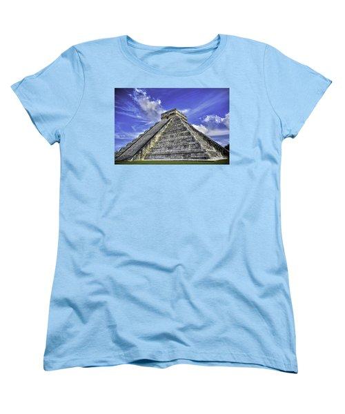 Chichen Itza, El Castillo Pyramid Women's T-Shirt (Standard Cut) by Jason Moynihan