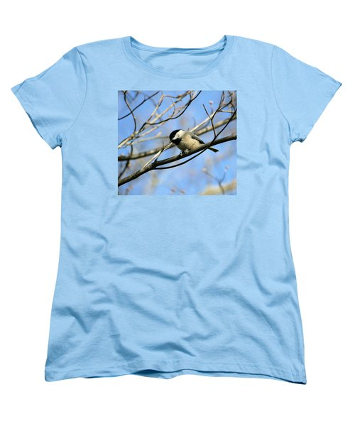 Women's T-Shirt (Standard Cut) featuring the photograph Chickadee by Cathy Harper