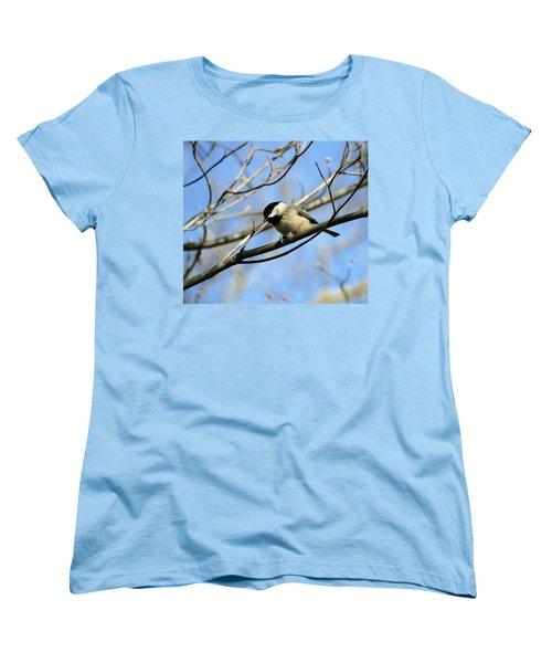 Chickadee Women's T-Shirt (Standard Cut) by Cathy Harper