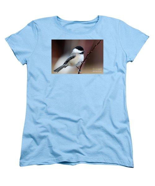 Chickadee Dee Dee Women's T-Shirt (Standard Cut) by Sandra Updyke