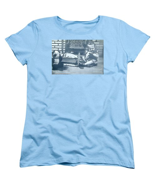 Women's T-Shirt (Standard Cut) featuring the photograph Childhood Memories by Linda Phelps