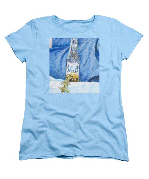 Women's T-Shirt (Standard Cut) featuring the mixed media Chill by Constance DRESCHER