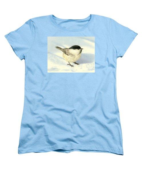 Chilly Chickadee Women's T-Shirt (Standard Cut) by Sarah Batalka