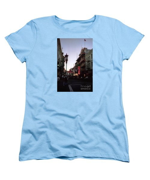 China Town San Francisco  Women's T-Shirt (Standard Cut) by Ted Pollard