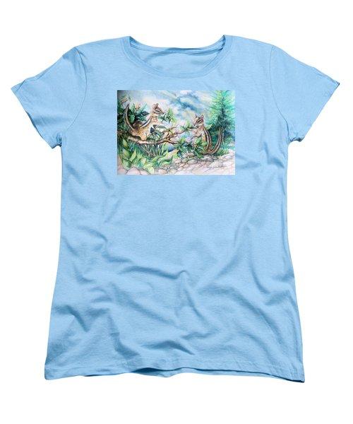 Chipmunk Women's T-Shirt (Standard Cut) by Linda Shackelford