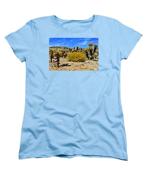 Cholla Garden Of Joshua Tree National Park Women's T-Shirt (Standard Cut) by Glenn McCarthy Art and Photography