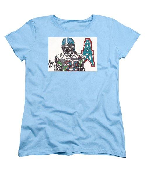 Chris Johnson  Women's T-Shirt (Standard Cut) by Jeremiah Colley