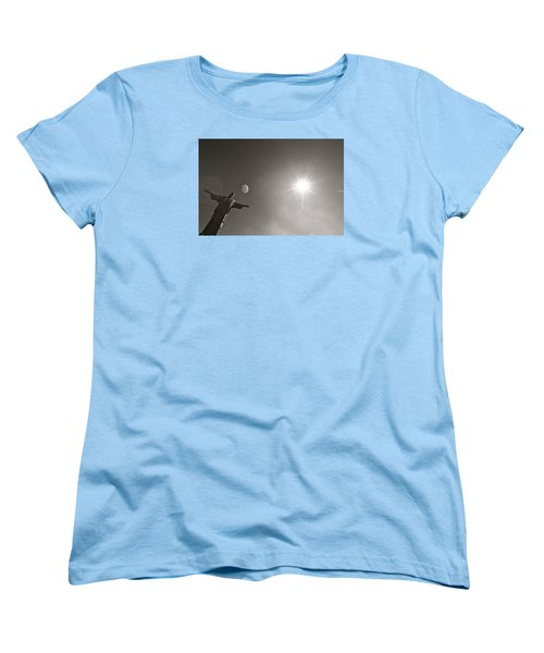 Christ The Redeemer Women's T-Shirt (Standard Cut) by Mark Nowoslawski