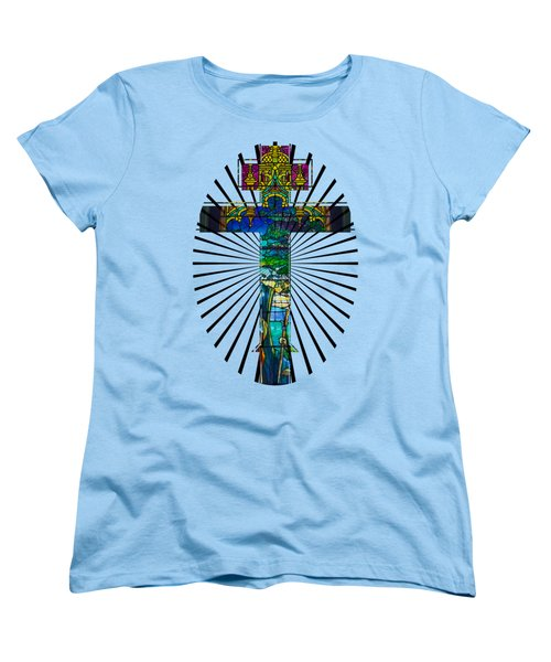 Christian Cross No 1 Women's T-Shirt (Standard Cut) by Robert G Kernodle