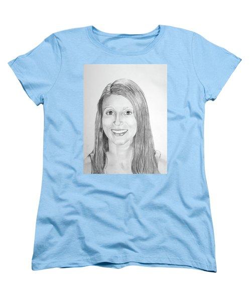 Women's T-Shirt (Standard Cut) featuring the drawing Christina by Mayhem Mediums